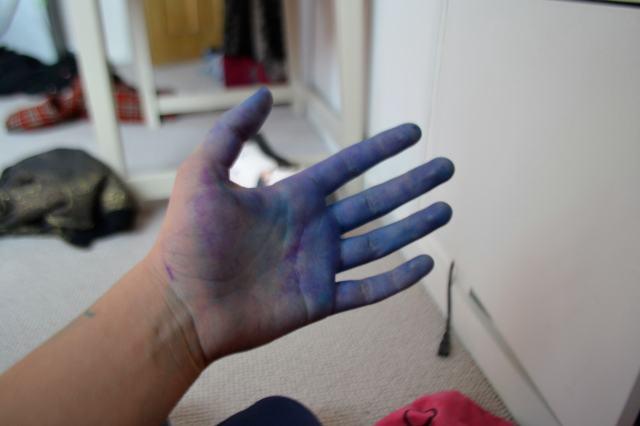 grubby hands