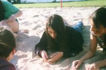maddie in the sand pit