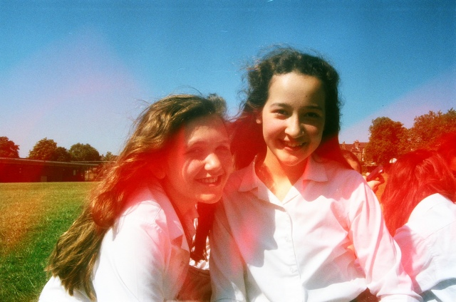 hana and theo in our last recess of year 8