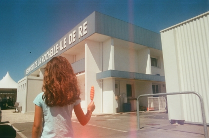 this was the first photo i took in la rochelle. it was just outside the airport and we were waiting for our hire car to be ready. aurora was boiling so asked for an ice lolly.
